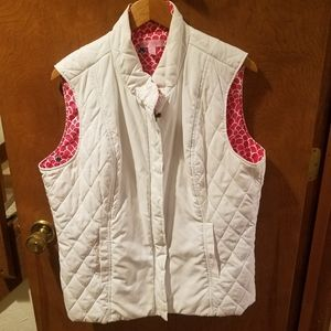 Lilly Pulitzer white puffer vest. Size XL
